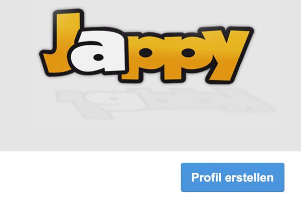 Startseite von Jappy.de (Screenshot)