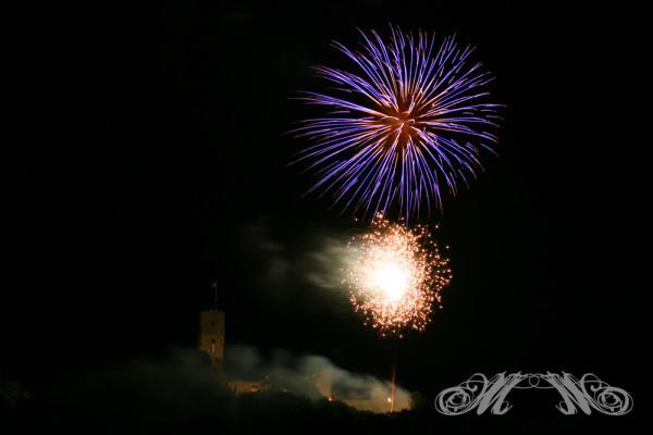 Burgfest Königstein Feuerwerk 2010