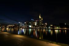 Frankfurt bei Nacht (Januar 2013)