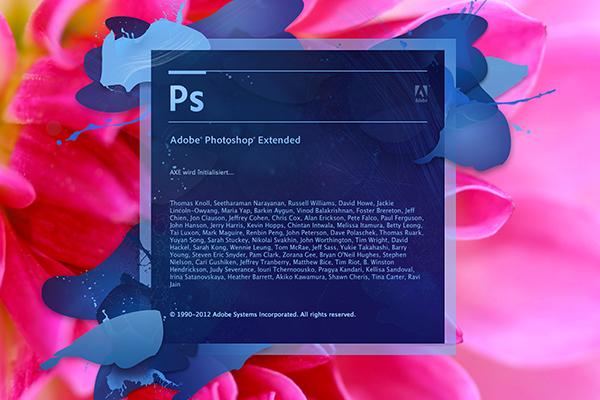Adobe Photoshop Startbildschirm