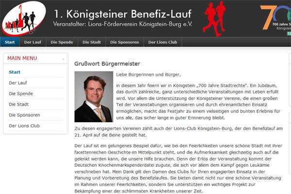 1. Königsteiner Benefiz-Lauf