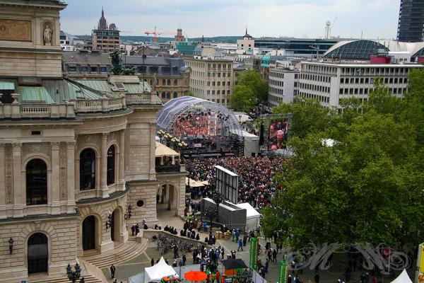 Wolkenkratzer-Festival 2013 Bühne Alte Oper