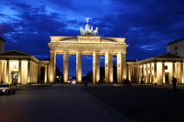 """Brandenburger Tor in der """"blauen Stunde"""" (2007)"""