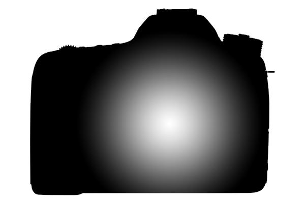 Silhouette einer digitalen Spiegelreflexkamera