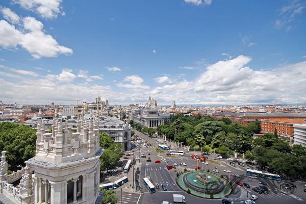 Blick über die Stadt Madrid (Mai 2014)