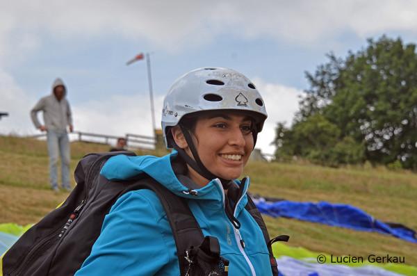 Jasmin kurz vor dem Start an der Ronneburg (Lernschein, Tag 3)