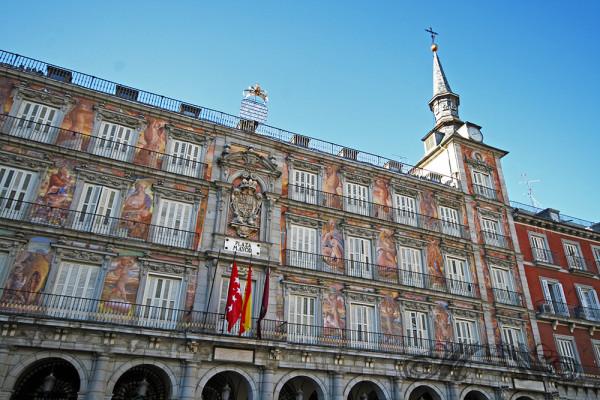 Plaza Mayor in der Altstadt von Madrid (Mai 2014)