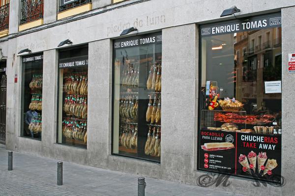 Schinken-Laden am Rande der Altstadt von Madrid (Mai 2014)